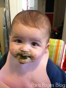 Pour toi internet, je t'offre une photo en mode barbouillette de ma Moutarde, 6 mois d'âge !