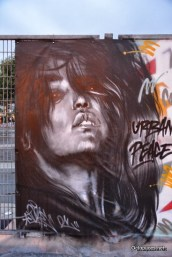 Urban peace graff art