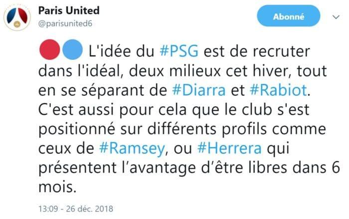 Le PSG et Herrera d'accord, signature en vue (RMC)