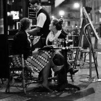 Cafe terrace in Paris, France
