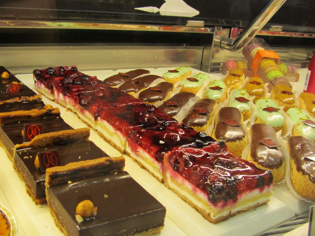 Patisseries at Maison Kayser.