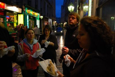 Falafel on Rue des Rosiers is a longstanding ritual in Paris-- and I'm unoriginal in claiming it as my favorite street food.