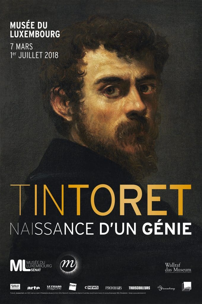 The Tintoretto retrospective runs at the Musee du Luxembourg through early July. © Affiche de la Réunion des musées nationaux- Grand Palais, 2018