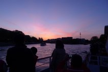 Sunset cruise on the Seine