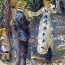 Renoir, The Swing - the actual swing is in the gardens of the Musée de Montmartre