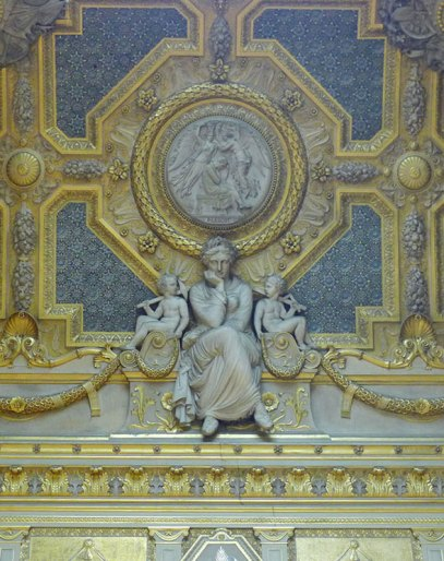 Ceiling detail at the Louvre museum