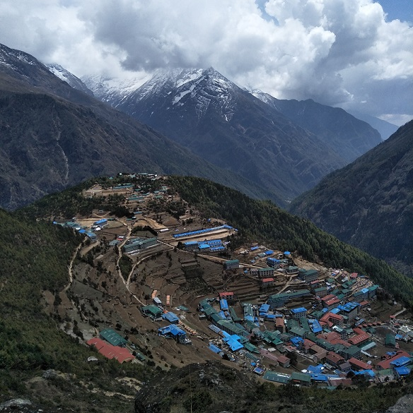 Lukla valley at everest