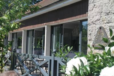 Hazlehead Cafe function room doors to the balcony