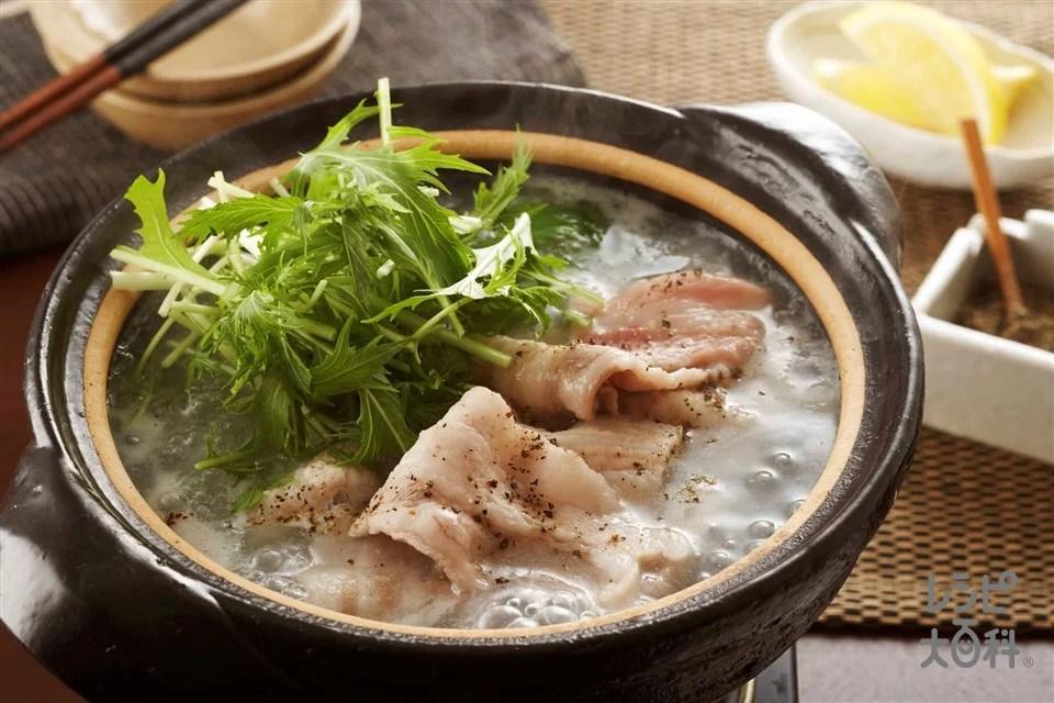豚肉と水菜の塩とろろ小鍋のレシピ・作り方・獻立 | 【味の素 ...