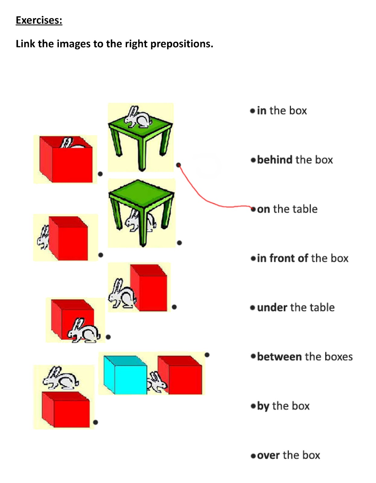Prepositions Of Place Time And Movement Exercises