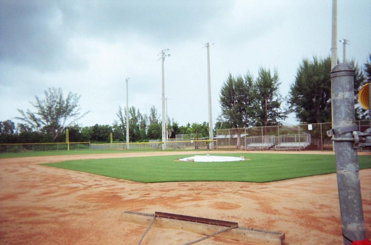 Chapman Park  Baseball Clay Infield Conversion to Grass