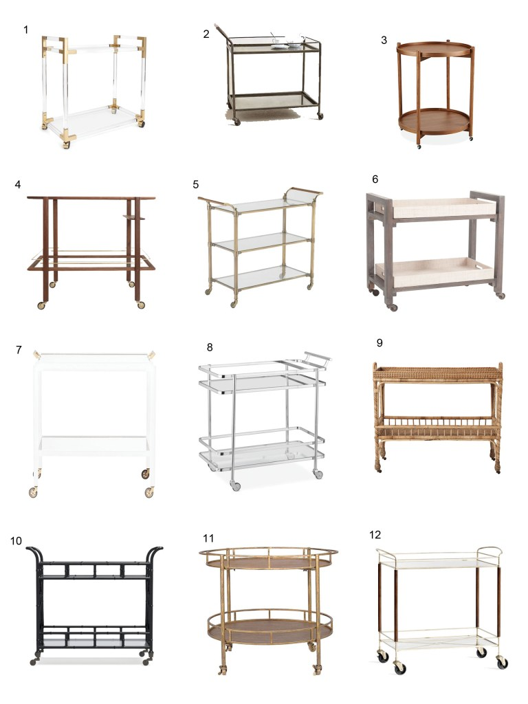 Park and Oak best bar cart roundup