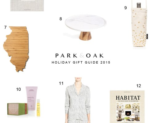 holiday gift guide 2015 - Park and Oak design
