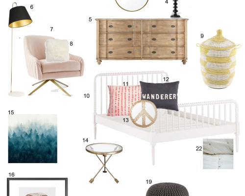 design board for a girls room