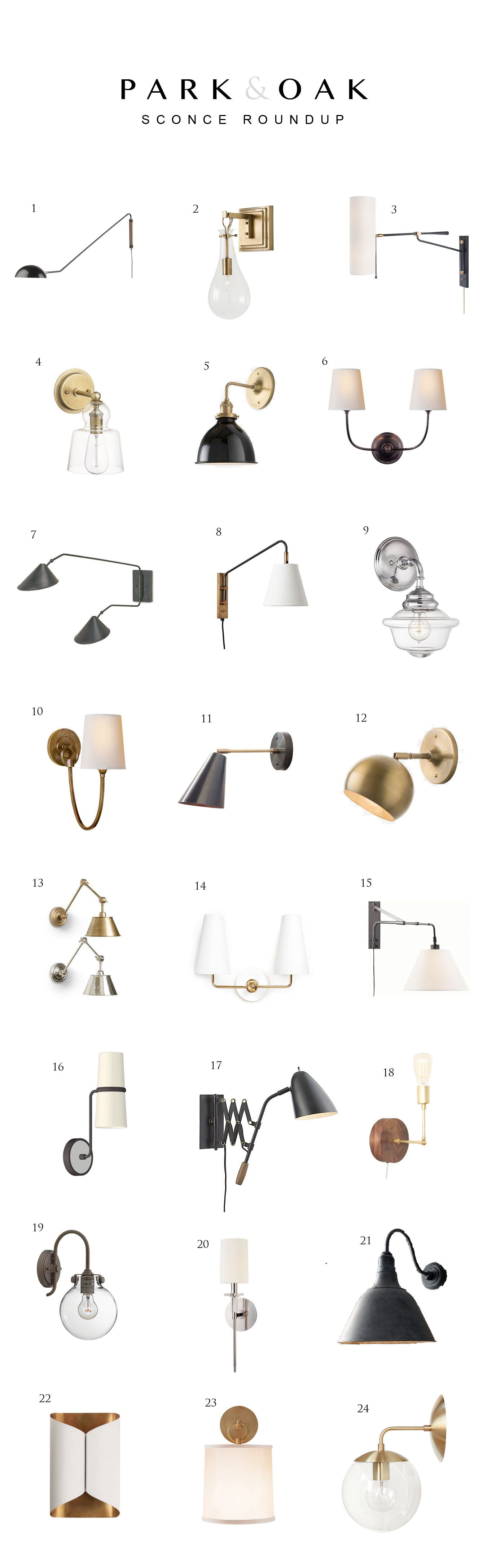 Wall Sconce Roundup Park And Oak Interior Design