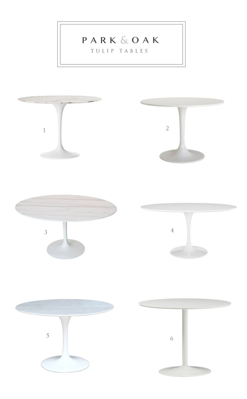 tulip table round up