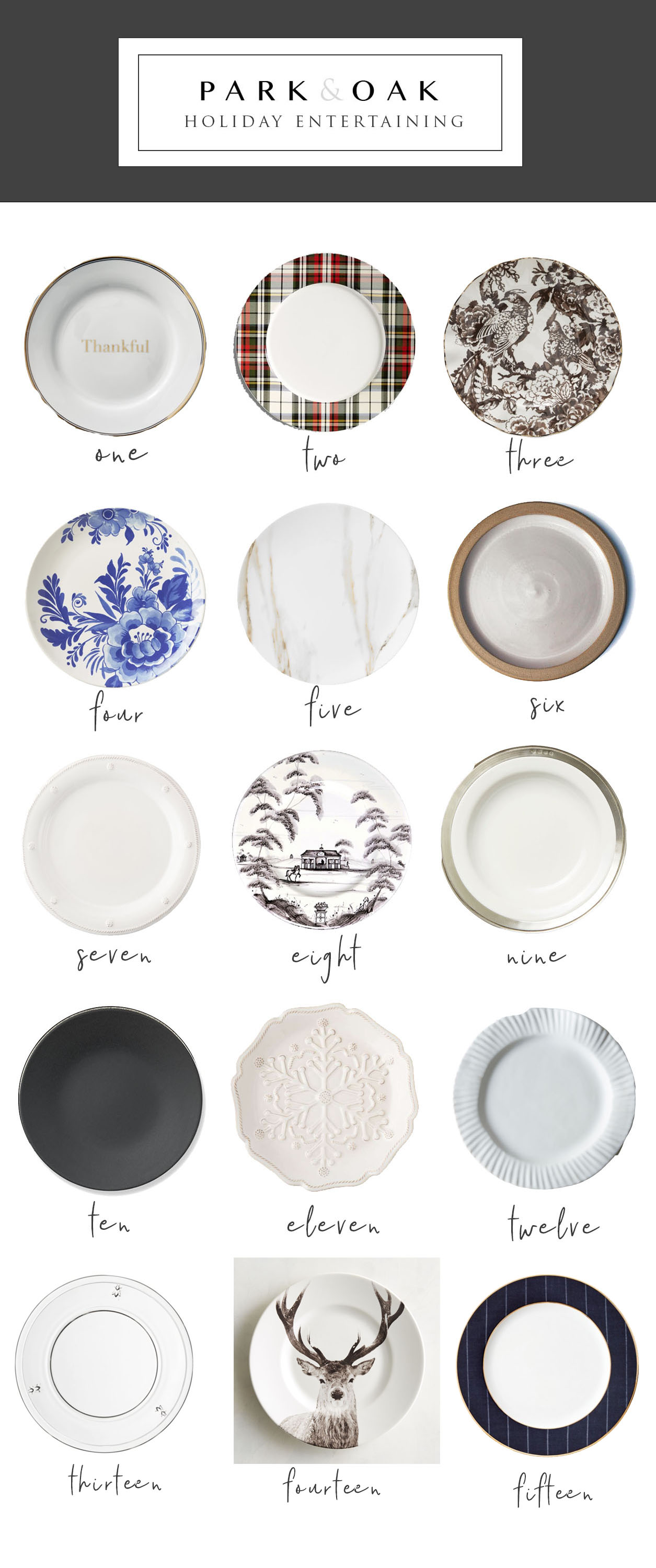 Park and Oak holiday entertaining - plates