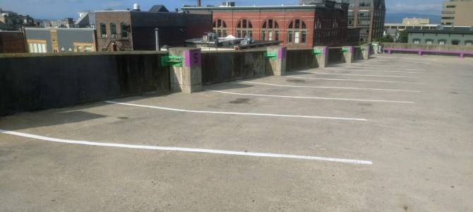 DPW Completes Marketplace Garage Painting