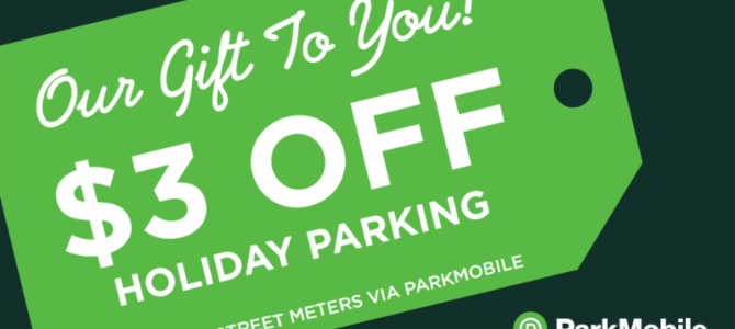 Holiday Parking Promotion Returns