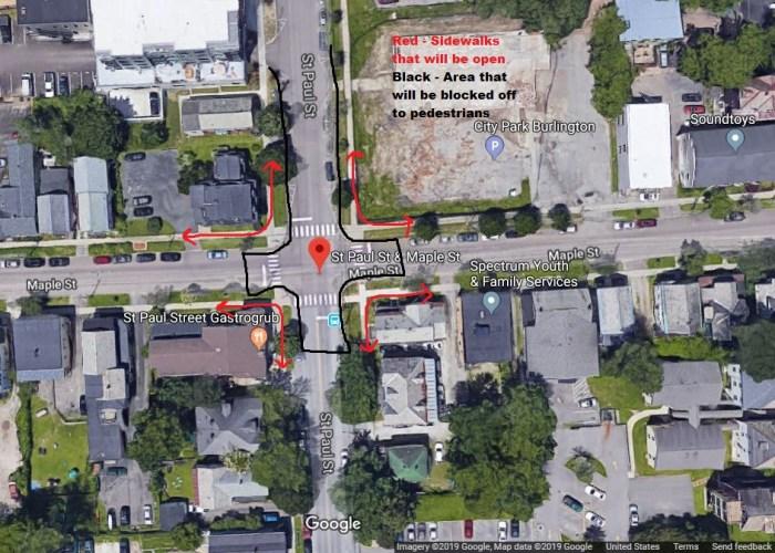 Saint Paul Street Construction Update. Burlington, VT Parking & Transportation News.