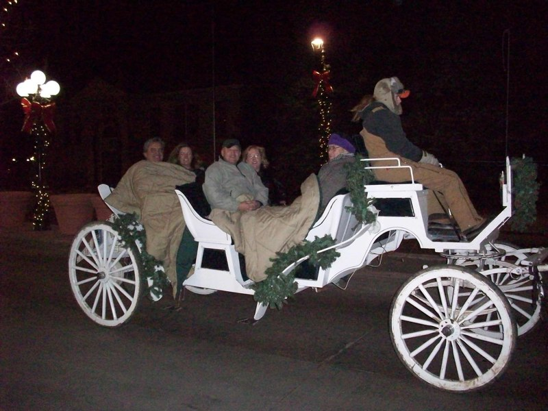 Carriage Rides in historic downtown parker for the holidays