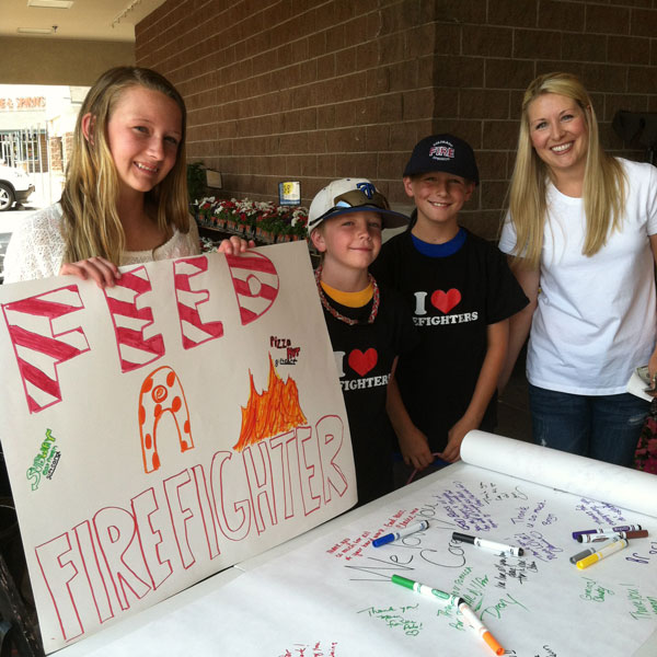 firefighter fundraiser colorado springs wild fire