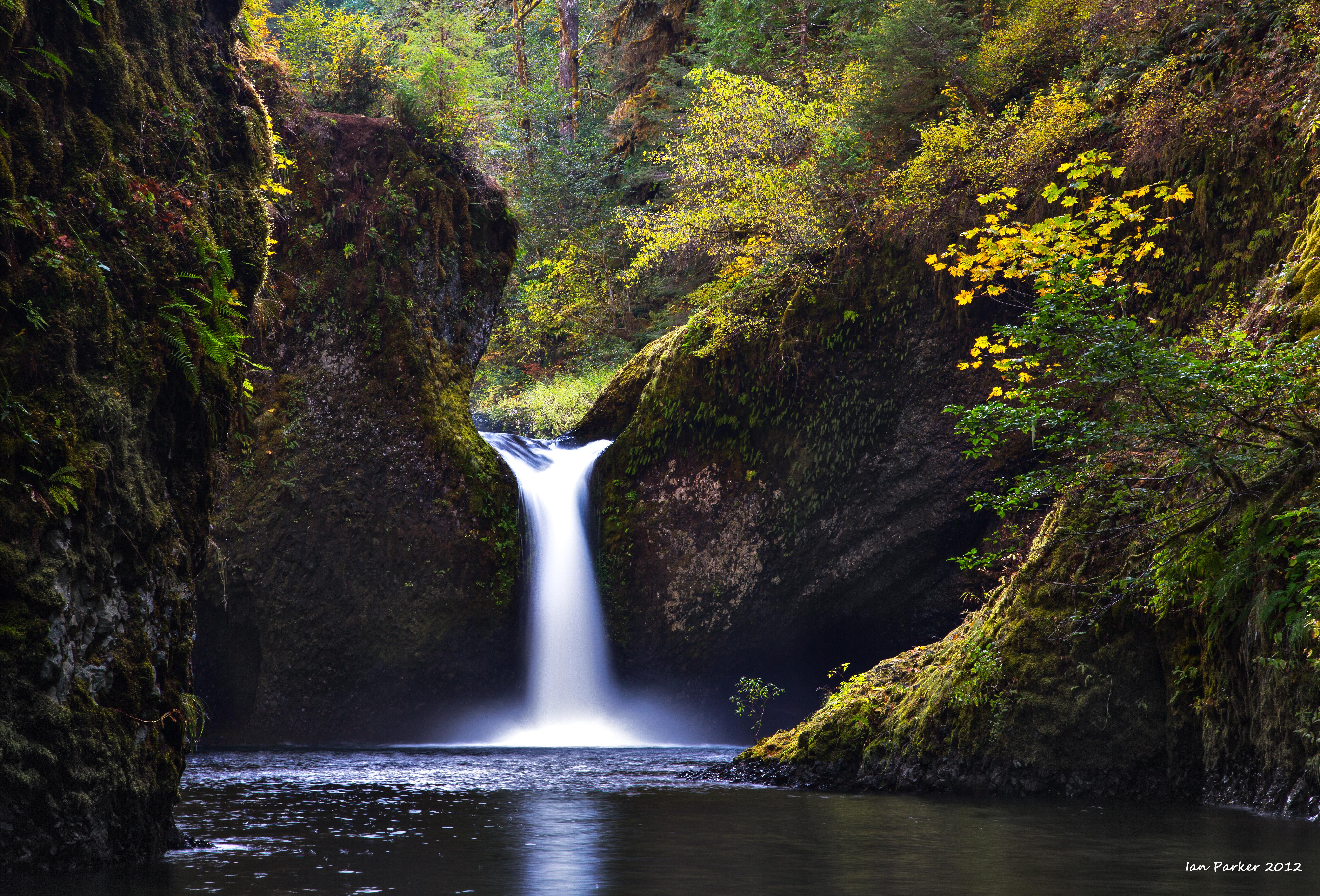 Multonomah Falls Wallpaper Desktop Evanescent Light Columbia River Gorge