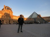 In front of the Louvre, we were so blessed to have had nice weather, because it usually rains a lot at this time of the year