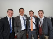 At Mission Council, with some of my favorite people  (from left to right - Elder Gram (MTC companion for the first day), Me, Elder Brockbank, and Elder Mosley)