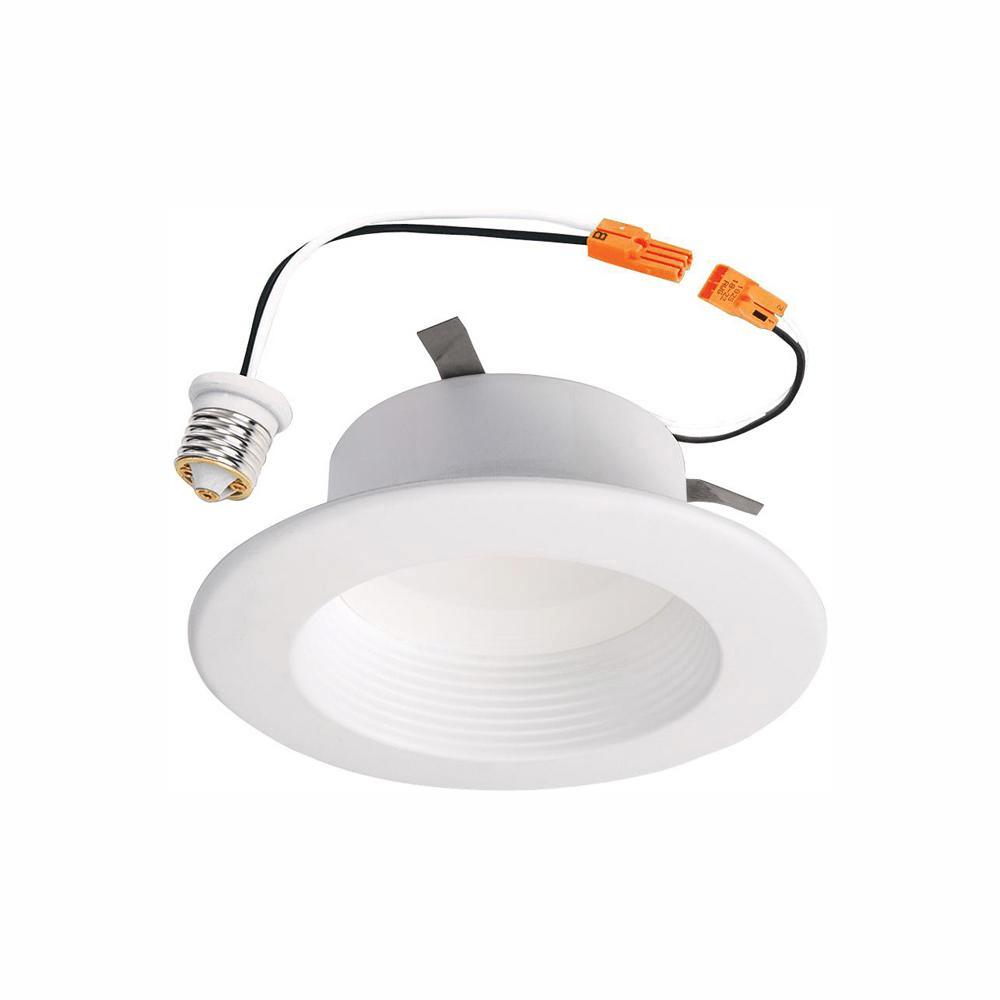 halo 4 in white led recessed ceiling light 2700k 5000k