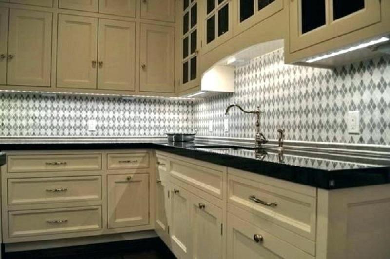 to hide under cabinet lighting wires