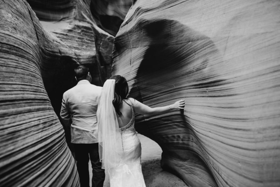 Elopement in Slot Canyon