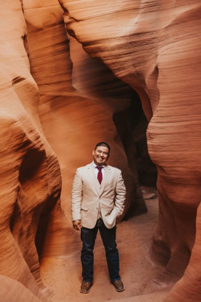 Groom in Slot Canyon