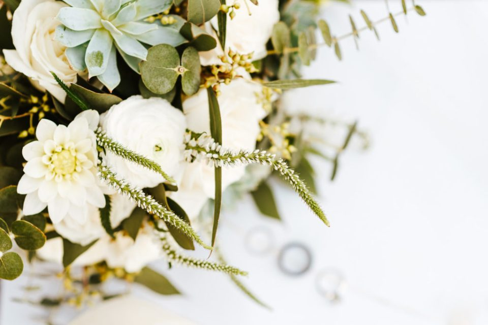 sage and cream wedding flowers