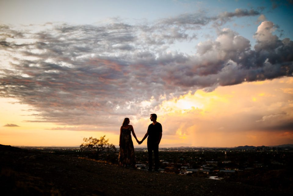 Phoenix Arizona Sunset Engagement Session