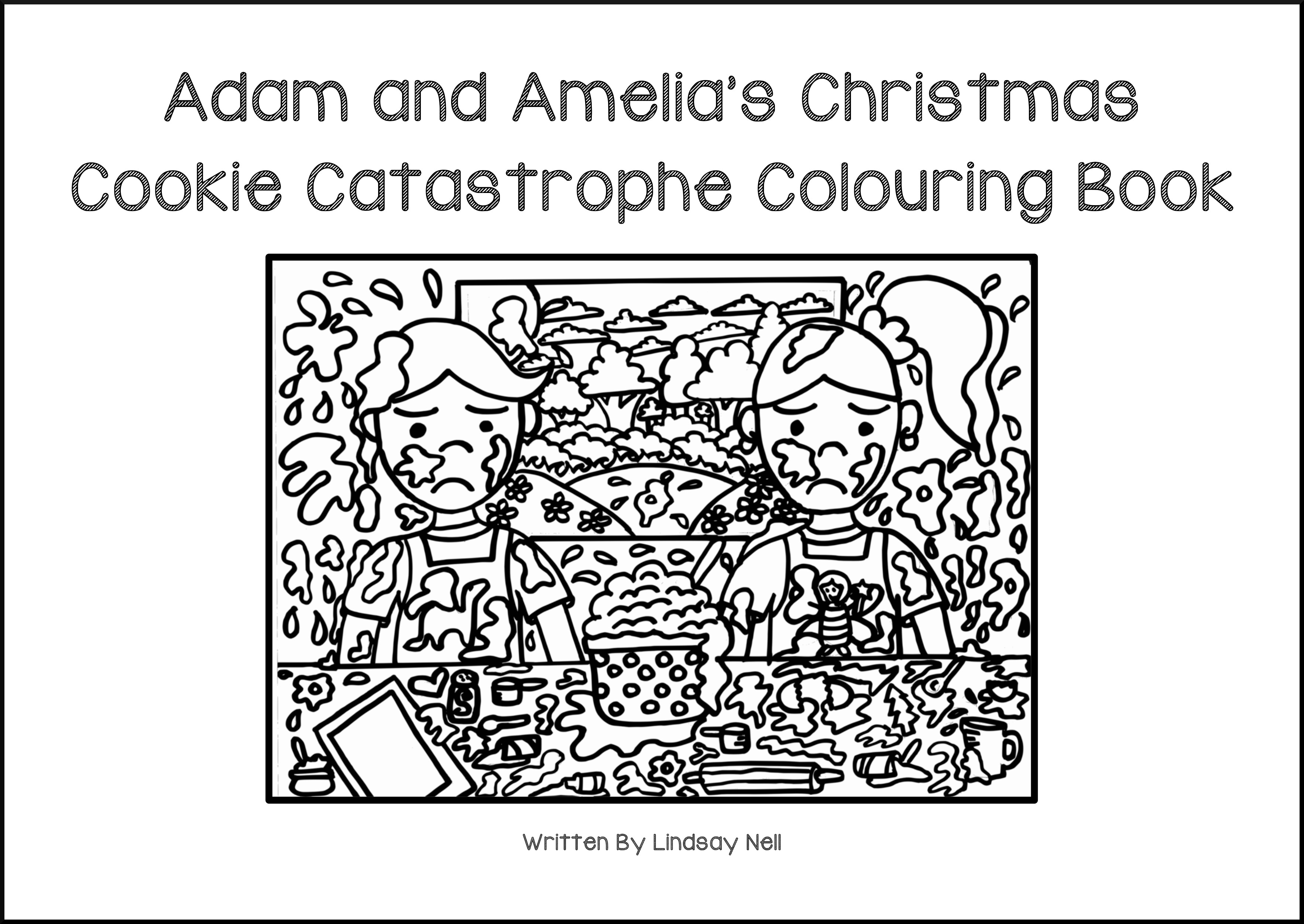 Freebie Friday: Adam and Amelia's Christmas Cookie Catastrophe Free Colouring Book