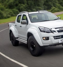isuzu d max at35 2 5 review front view driving on road white [ 1752 x 1168 Pixel ]