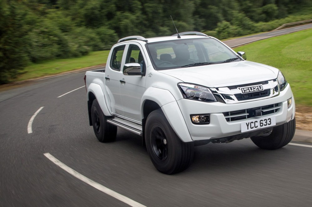 medium resolution of isuzu d max at35 2 5 review front view driving on road white