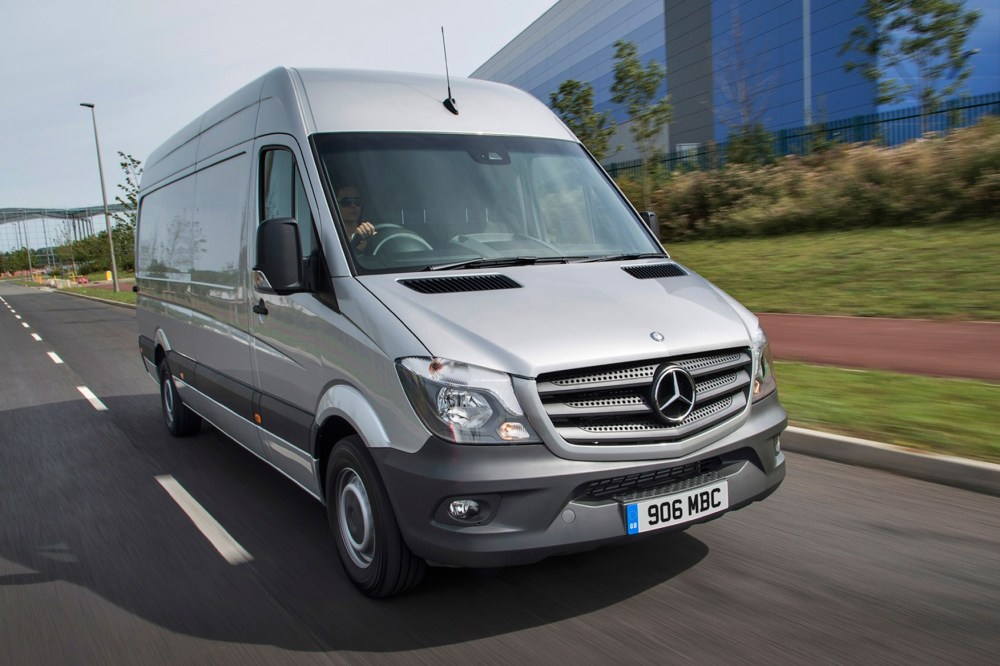 medium resolution of mercedes benz sprinter full review on parkers vans front exterior