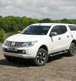 mitsubishi l200 review white front view with hardtop [ 1752 x 1168 Pixel ]