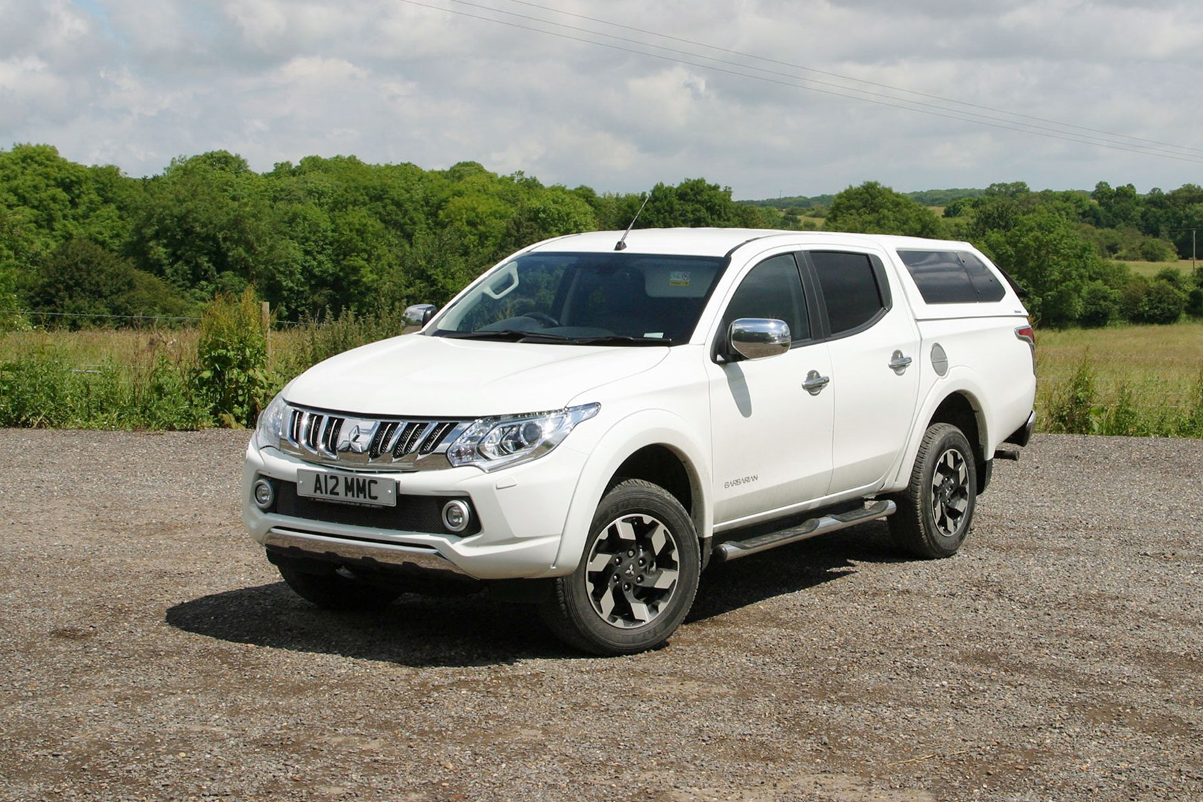 hight resolution of mitsubishi l200 review white front view with hardtop