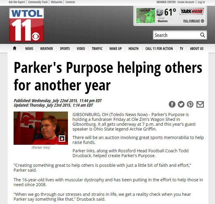 Parker's Purpose helping others for another year