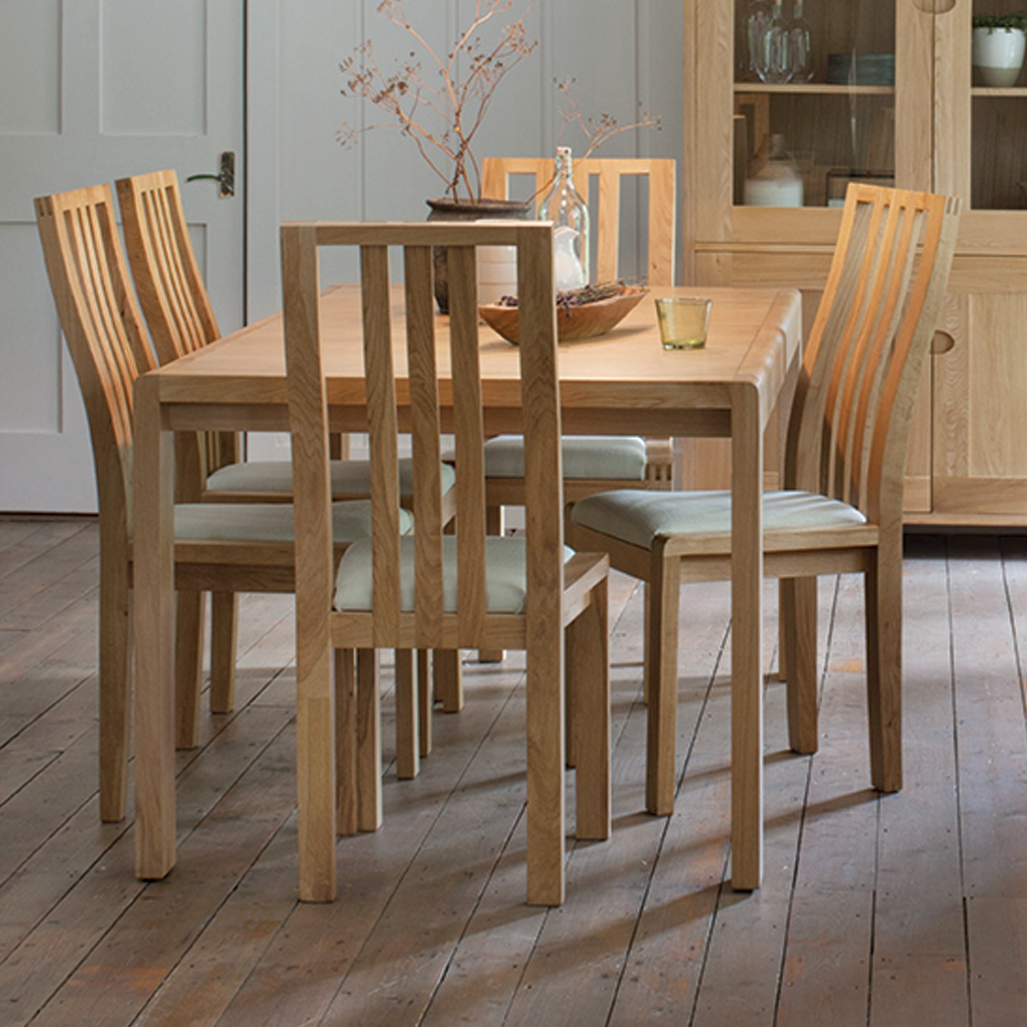 Dining Table And 6 Chairs Ercol Bosco Small Extending Table And Six Chairs Dining Set