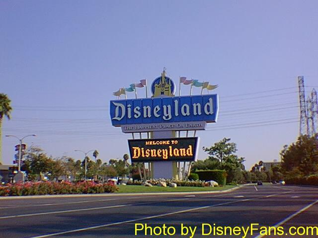 Visiting Disneyland in 1996.