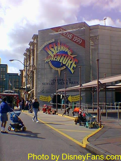 Universal's Islands of Adventure preview center in 1999.