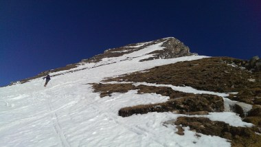 Die letzten Meter - Gipfelhang