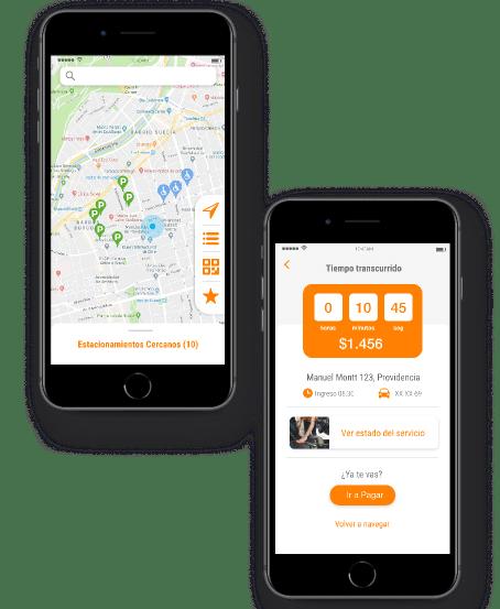 Encuentra estacionamiento en Parking App