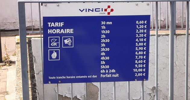 Tarifs de stationnement et prix des locations de parking for Prix location d un box garage