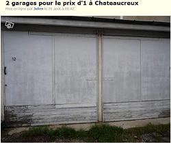 J'ai passé une annonce pour vendre mes garages