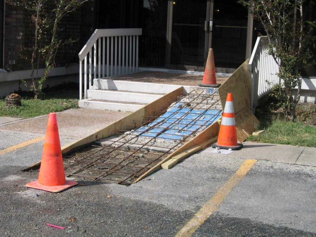 wheel chair ramp wooden desk on wheels ada and wheelchair ramps buchheit parking lot repair